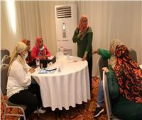 ورشة عمل  لتقديم الدعم من  الخط المختصر بمكتب شكاوى المرأة