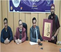 أعلام الخط العربي يحكمون مسابقة الخط العربي للطلاب الوافدين بالازهر