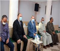 «الهجان» يقدم واجب العزاء لأسرة شهيد الواجب المجند محمد الغندور
