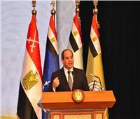 السيسي: مصر لم تسع يوما لحروب أو نزاعات لكن تمد يدها بالخير والبناء
