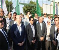 وزير الشباب والرياضة ومحافظ بني سويف يفتتحان عدداً من المنشآت الرياضية