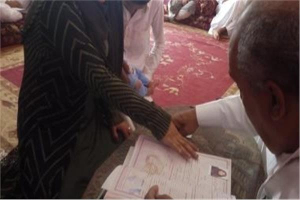 قومي المرأة بشمال سيناء : توثيق 16 حالة زواج وتسجيل 94 حالة ساقط قيد