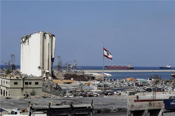 تضرر مرفأ بيروت بعد الانفجار