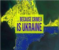 """قالوا إن القرم """"إقليم أوكراني"""" لكنهم قلبوا علم أوكرانيا"""