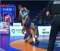 عاطف يحصد اول ميدالية لمصر في بطولة العالم للرواد للمصارعة الحره