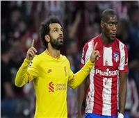 الهدف الثالث يسجلة محمد صلاح في فريق اتليتكو مدريد