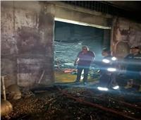 محافظ القاهرة يتابع حريق مصنع البساتين