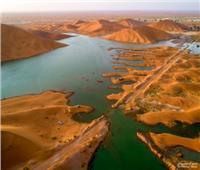 بحيرة السنينة خلّفها إعصار شاهين واصبحت مزارا سياحيا