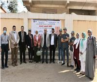 قافلة جامعة عين شمس تعالج 743 مواطنا بـ «البحيرة»