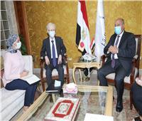 السفير الياباني خلال لقائه وزير النقل :المناخ الاستثماري في مصر  واعد